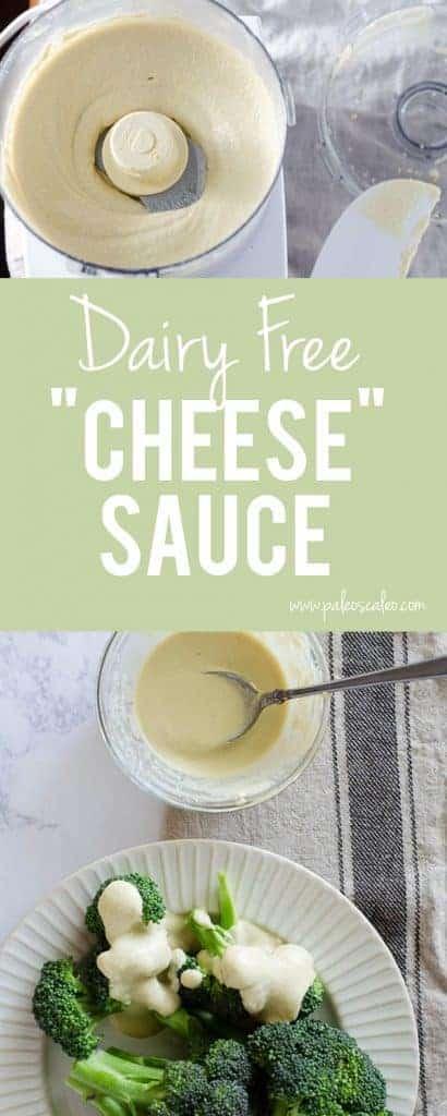 A dairy free, no-cook, easy paleo cheese sauce! | PaleoScaleo.com