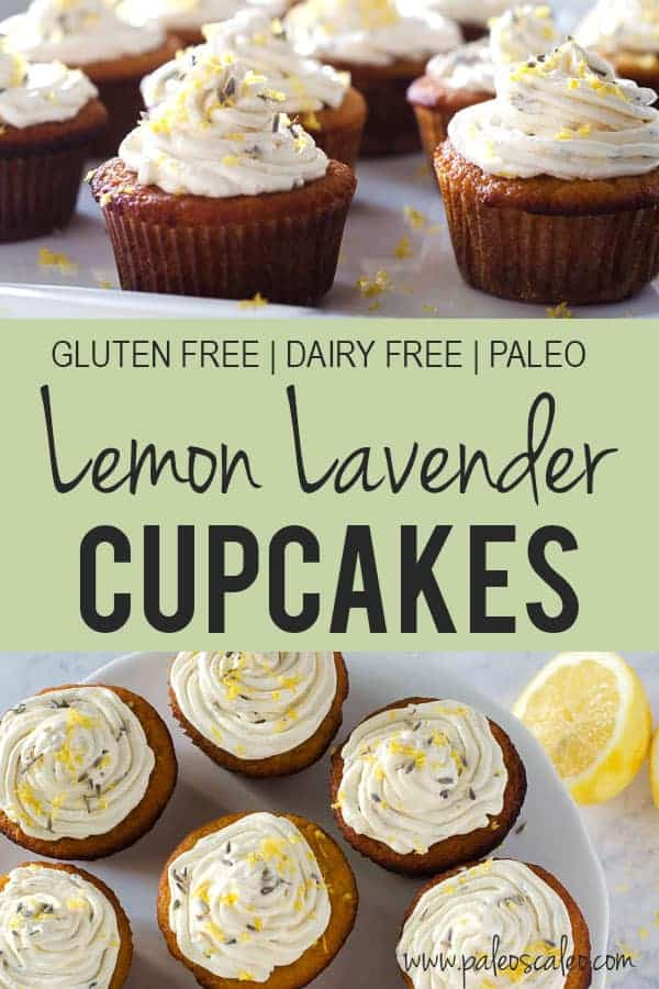 These Lemon Lavender Cupcakes are light, bright, and the perfect springtime treat! You'll never believe that they're gluten free and refined sugar free too.