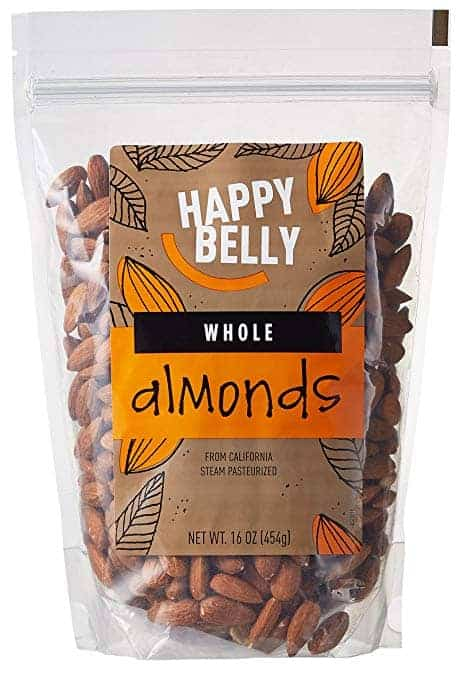 happy belly bag of almonds