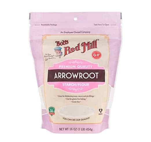 bag of arrowroot powder