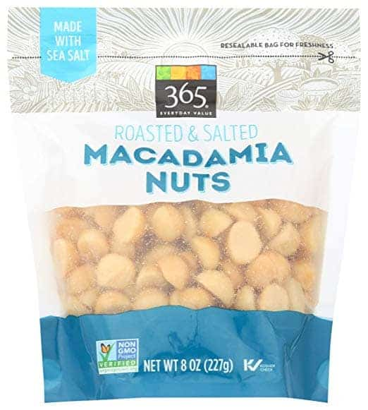 bag of macadamia nuts