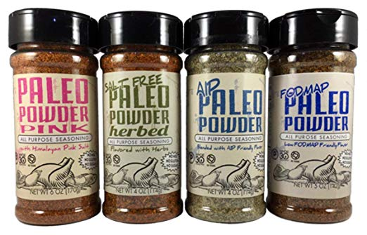 jars of paleo powder seasoning