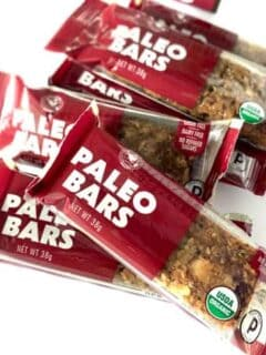 pile of paleo bars laying on a table