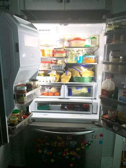 fridge with both doors open