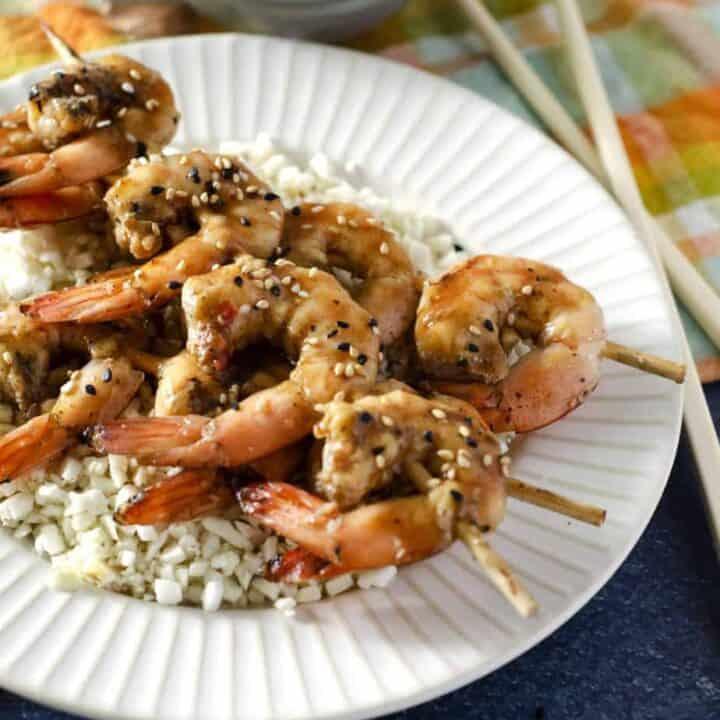 Ginger Teriyaki Traeger Shrimp