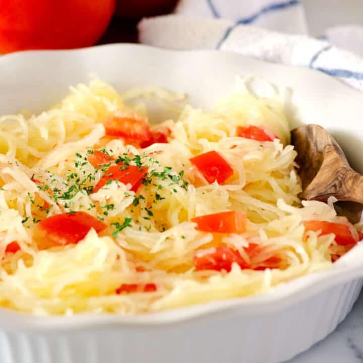 Confetti Spaghetti Squash with Tomatoes