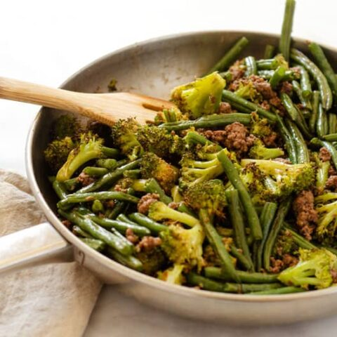 Easy 20 Minute Ground Beef and Green Beans